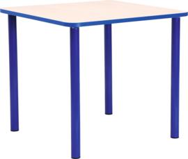 Vierkante Quint-tafel 65 x 65 cm met blauwe rand 40-58cm