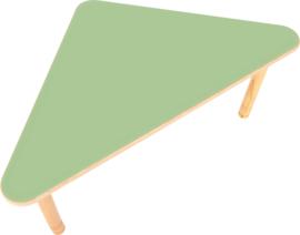 driehoekig Flexi- tafel 108x80x80cm groen in hoogte verstelbaar