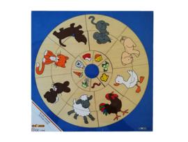 Puzzel dieren en hun eten