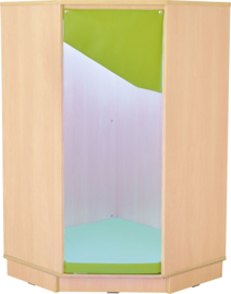 Quadro relax hoekmeubel 72x72x124,2cm - Esdoorn/wit