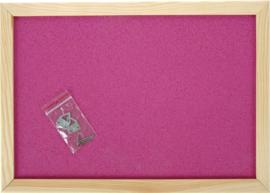 Prikbord 90 x 120 cm - roze