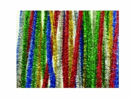 Chenille 200 x 50 cm. metallic