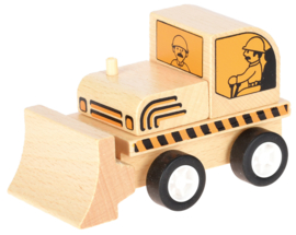 Mini houten bulldozer