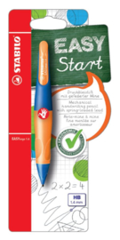 Vulpotlood STABILO Easyergo 1.4mm rechtshandig blauw/neon oranje blister