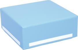 Foam kubus 50x50x20cm - Blauw