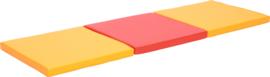 Matras 3-delig - rood/oranje