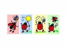 Stickers Lieveheersbeestjes - serie 43