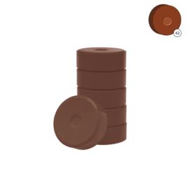 Colorall verfblokken Ø 5,5 cm 6 dlg - Donkerbruin
