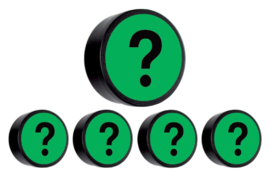 5x Magneet vraagteken 35mm groen