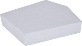 Quadro matras  licht grijs, hoogte 20 cm