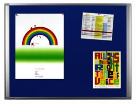 Textielbord dynamic blauw 90 x 180 cm