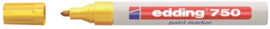 Viltstift edding 750 lakmarker rond geel 2-4mm