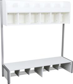 Quadro - garderobe 6 laag, wit