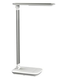 Bureaulamp MAUL Jazzy LED voet dimbaar + usbpoort wit