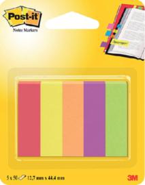 Indextabs 3M Post-it 670 Jaipur 12.7x44.4mm papier 5 kleuren