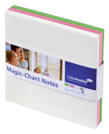 300 vel Magic-chart notes Legamaster 10x10 cm assorti