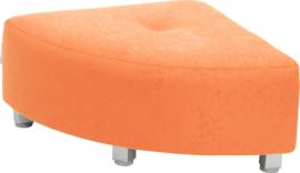 Flexi hoekbank, zithoogte 25 cm, oranje