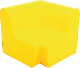 Middelhoge hoekbank zithoogte 26cm  - geel
