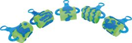 Foam verfrollers 5 stuks groen - Zeedieren