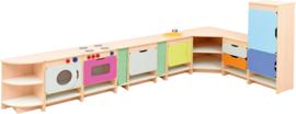 Keuken Quadro  L-vorm 199,4x184,6cm - Esdoorn