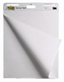 Meeting chart 3M Post-it 635x762mm blanco 4 pak