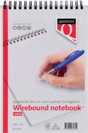 Schrijfblok Quantore A5 lijn kopspiraal lijnen