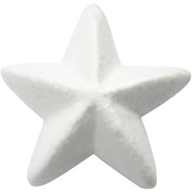 Tempex sterren 10 stuks  100mm - Wit