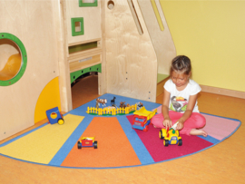 Speelmat kwartrond 150cm - Pastel