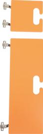 Kleine en grote deur voor kameleon garderobe- oranje