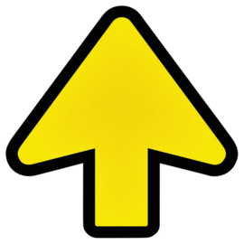 Vloersticker OPUS 2 pijl geel/zwart