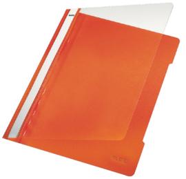 10x Snelhechter Leitz 4191 A4 PVC oranje