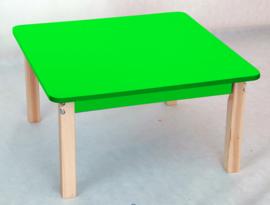 Vierkant kleurrijk groen tafelblad
