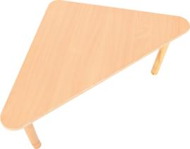 driehoekig Flexi tafel 108x80x80cm beuken in hoogte verstelbaar
