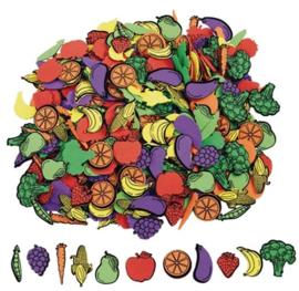 Foam stickers  zelfklevend fruit  500 stuks