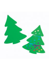 Krasfolie kerstboom groen 36 stuks