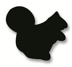 Plakfiguur - Eekhoorn 400st assorti