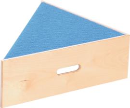 Driehoek platform, hoogte: 20 cm,  blauw