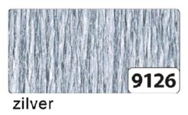 Crepepapier   250x50cm nr9126 zilver