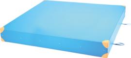 Dik gym matras afm. 200x200x25cm - blauw