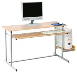 Computerplank voor NEO-bureaus - zilver