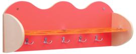 Plank voor bekers en accessoires - rood