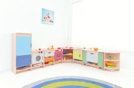 Keuken Quadro - Set met een koelkast