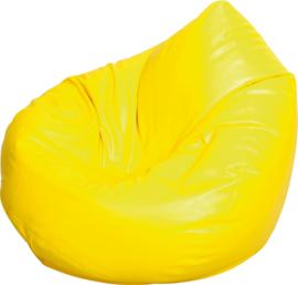 Kleine zitzak poef - peer geel