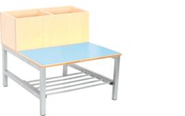 Flexi combibank 2, zithoogte 35 cm,  blauw