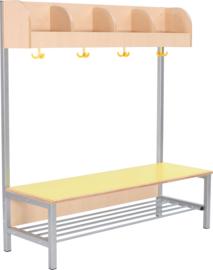 Flexi garderobe 4, zithoogte 35 cm - geel