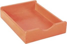 Houten lade - oranje