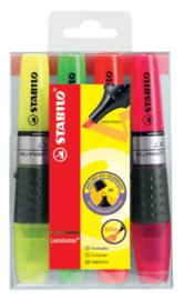 Markeerstift STABILO Luminator 71/4 etui à 4 kleuren