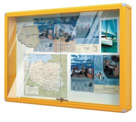 Informatie vitrines - geel