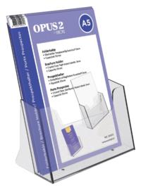 Folderhouder OPUS 2 A5 transparant