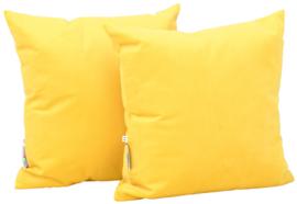 Vierkante kussens, geel, 2 stuks